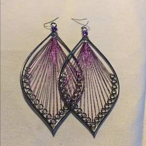 🇺🇸 New Large purple earrings